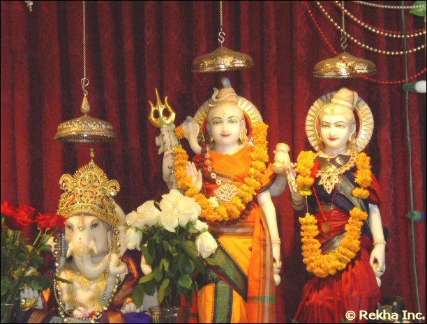 Ganesh at Shri mandir sandiego - © HinduMandir.us